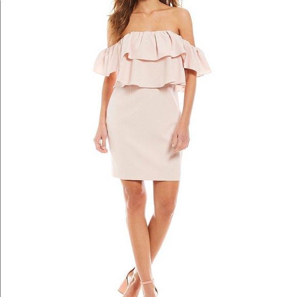 a89ff9d5a527c Gianna Bini Ruffle Sleeve Loucille Popover Dress